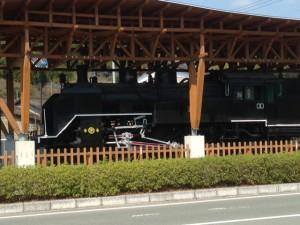 黒木町の機関車